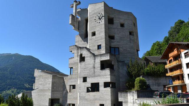 L'église Saint-Nicolas de Myre d'Hérémence en Valais. [© Jacques Berset - Cath.ch]