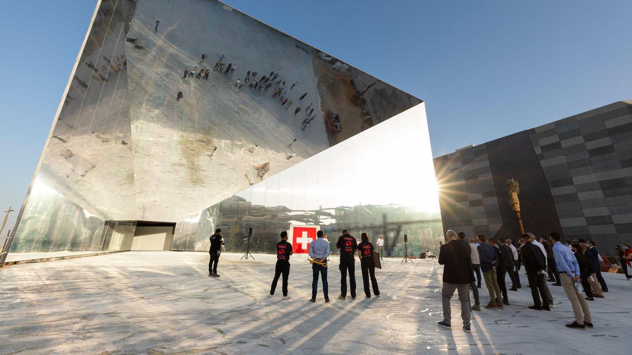 La Suisse a achevé la construction de son Pavillon à l'Expo universelle de Dubaï.  [DANY/PRAESENZ SCHWEIZ - KEYSTONE]