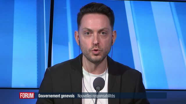 Le Conseil d'Etat genevois a procédé à la répartition des départements (vidéo) [RTS]