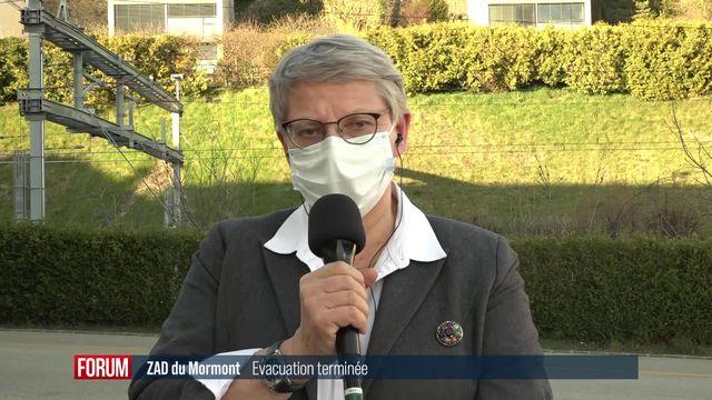 L'interview de Béatrice Métraux à la suite de l'évacuation de la ZAD du Mormont (vidéo) [RTS]