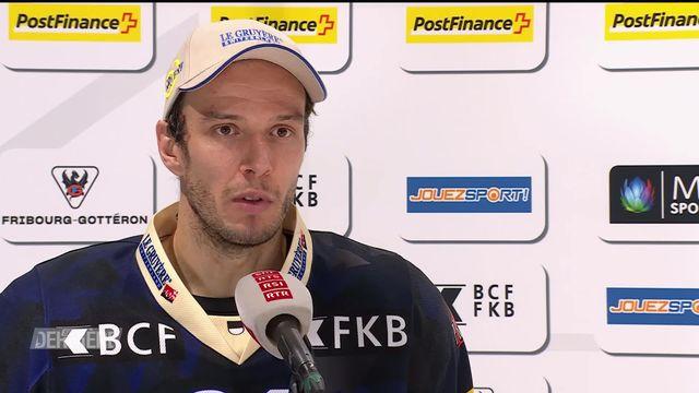 3e journée, Fribourg - Langnau (6-2): Interview Julien Sprunger [RTS]