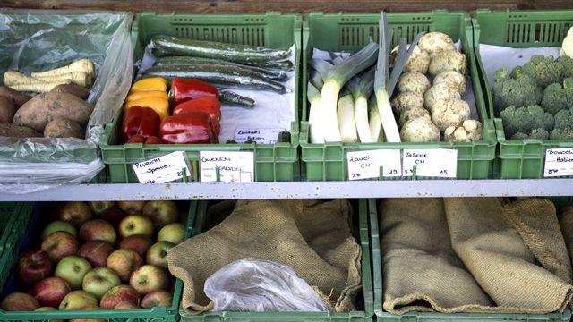 Les légumes font partie des produits bio préférés en Suisse. [Peter Schneider - Keystone]