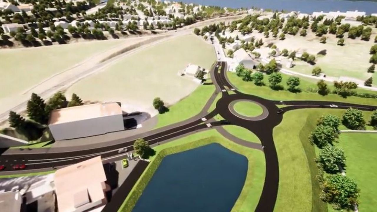 Modélisation du contournement H18 de La Chaux-de-Fonds, 14 janvier 2021. [Capture d'écran - République et Canton de Neuchâtel]