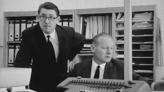Des employés de banque à Genève en 1967. [RTS]
