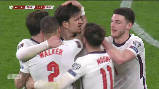 Gr. C, Angleterre – Pologne (2-1): victoire des Anglais face à une Pologne privée de Lewandowski [RTS]