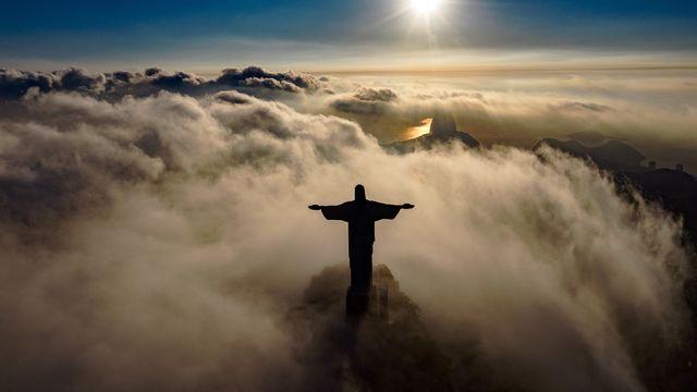 La Statue du Christ Rédempteur à Rio de Janeiro au Brésil. [Carl De Souza - AFP]