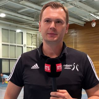 Stepan Abramov, manager de Chênois Volley. [Miguel Bao - RTS]