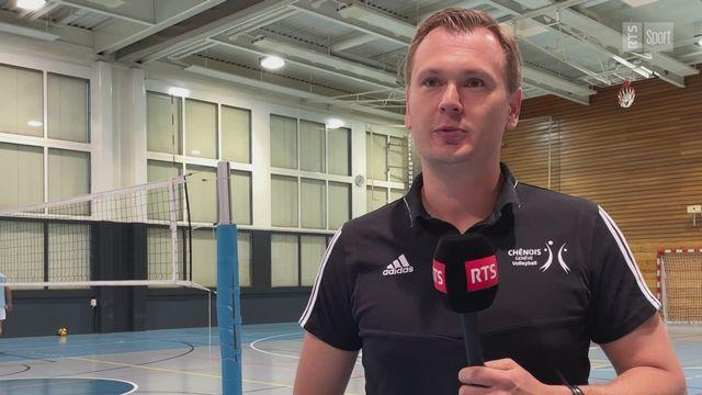 Volley - Chênois: L'histoire s'écrit aujourd'hui (Stepan Abramov) [RTS]