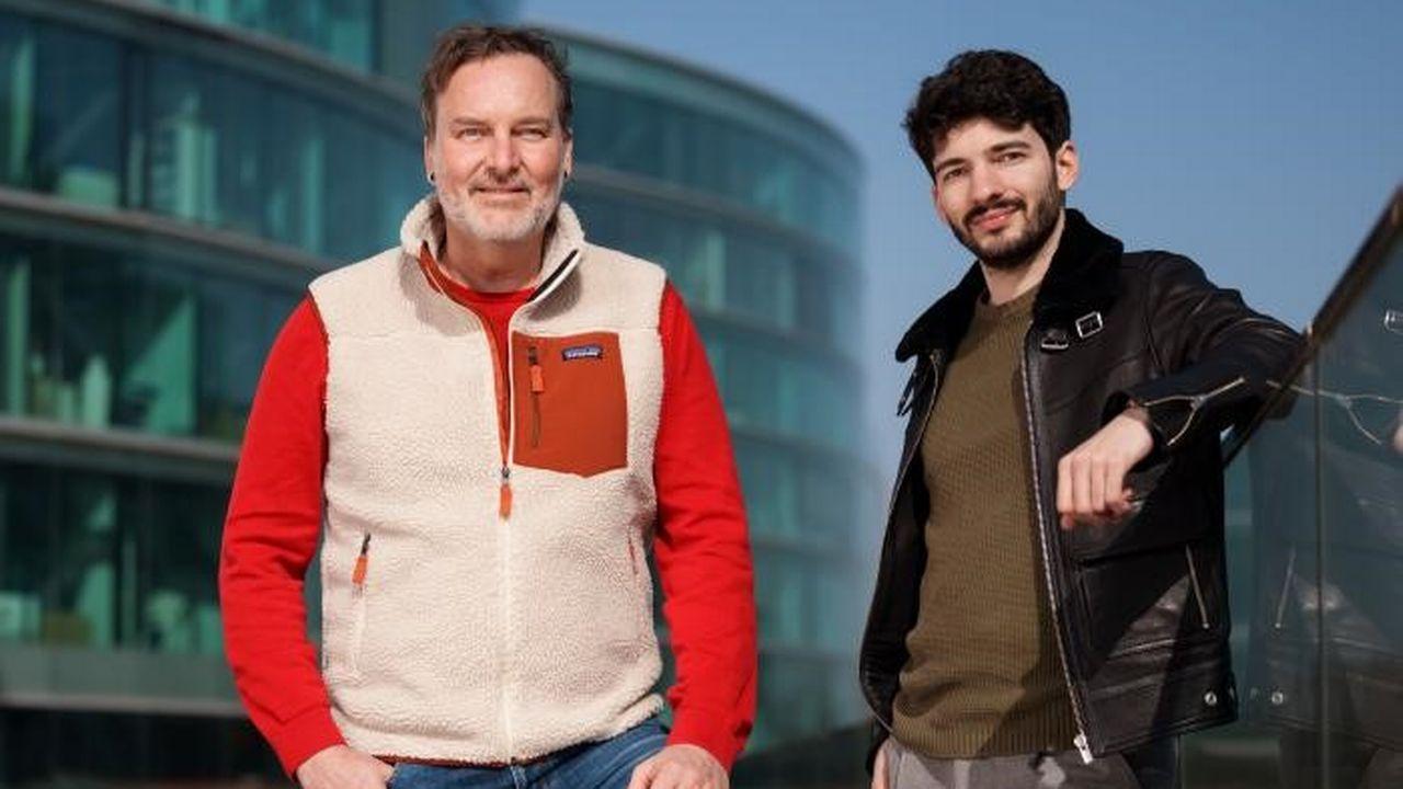 Michel Jeanneret, rédacteur en chef, et Thomas Deléchat, product owner du Blick francophone. [DR - Ringier AG]