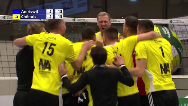 Finale - match 1, Amriswil - Chênois (2-3): les Genevois créent d'entrée une surprise [RTS]