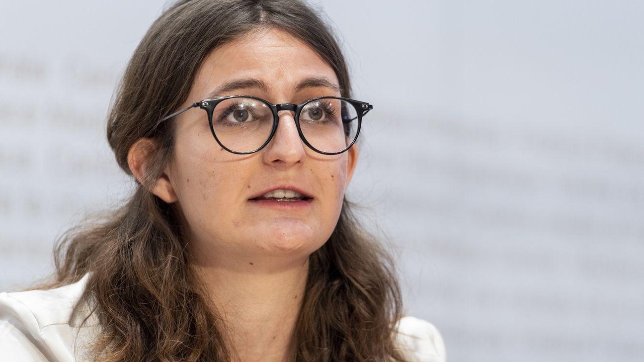 Julia Küng, co-présidente des Jeunes Verts. [Alessandro della Valle - Keystone]