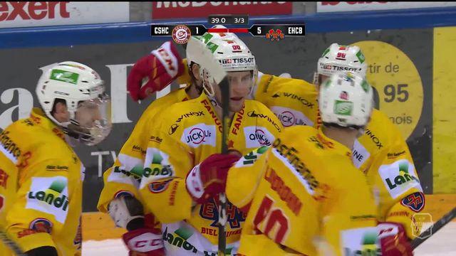 49e journée, Genève-Servette - Bienne (1-5): une fin de match de folie avec 5 buts en 2 minutes ! [RTS]