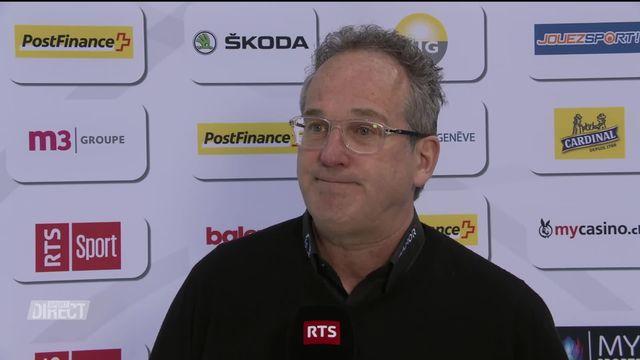 Le coach Genevois Patrick Emond à l'interview [RTS]