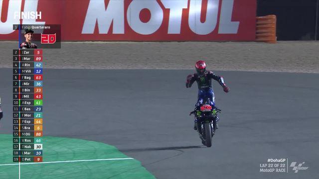 Losail (QAT), MotoGP: Fabio Quartararo (FRA) s'impose devant Zarko (FRA) et Martin (ESP) [RTS]
