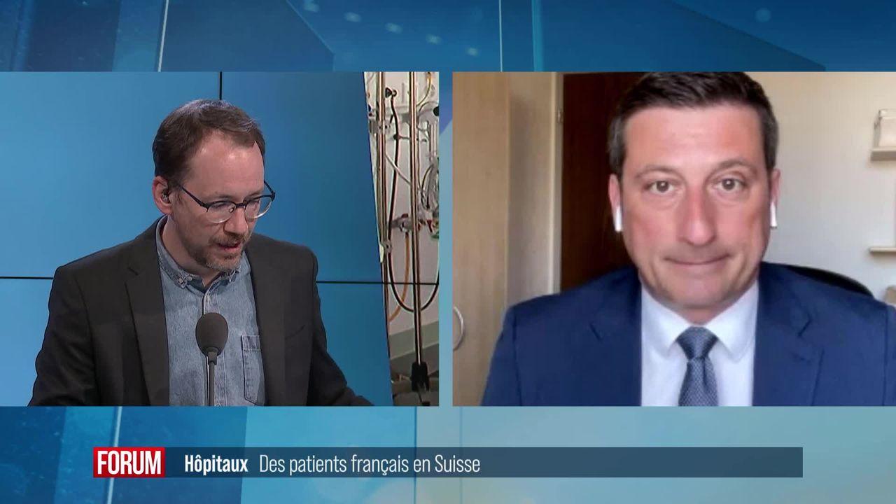 Des patients français viennent se faire soigner en Suisse: interview de Jacques Gerber [RTS]