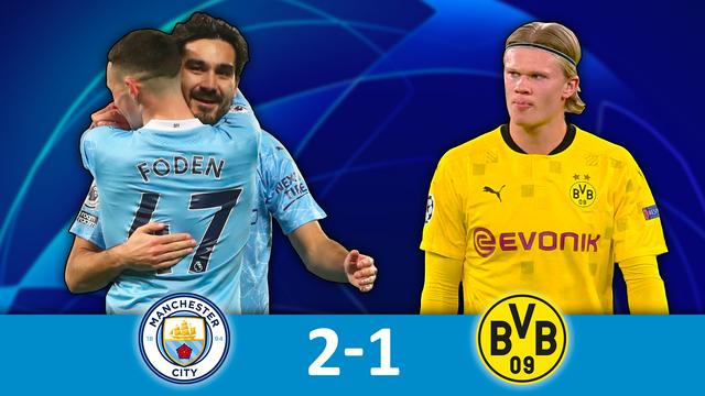 1-4 aller, Man.City - B.Dortmund (2-1): City s'impose sur le fil contre le Borussia
