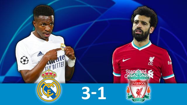 1-4 aller, Real Madrid - Liverpool (3-1): le Real s'impose face à un triste Liverpool