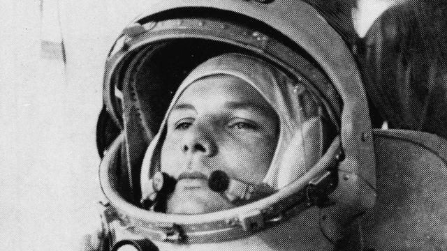 Le cosmonaute soviétique Youri Gagarine, premier homme dans l'espace. [AP Photo - Keystone]