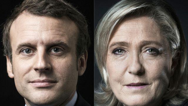 Emmanuel Macron et Marine Le Pen: telle pourrait être à nouveau l'affiche du second tour de l'élection présidentielle française de 2022. [Joel Saget - AFP]