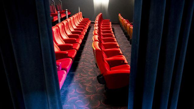 Une salle de projection du Cinéma Odéon le 3 juin 2020 à Morges (VD). [Laurent Gillieron - Keystone]