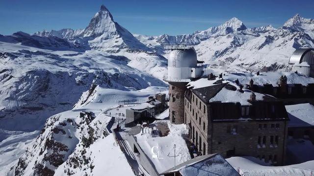 Perché à 3'100 mètres, le Gornergrat est l'hôtel le plus haut d'Europe [RTS]