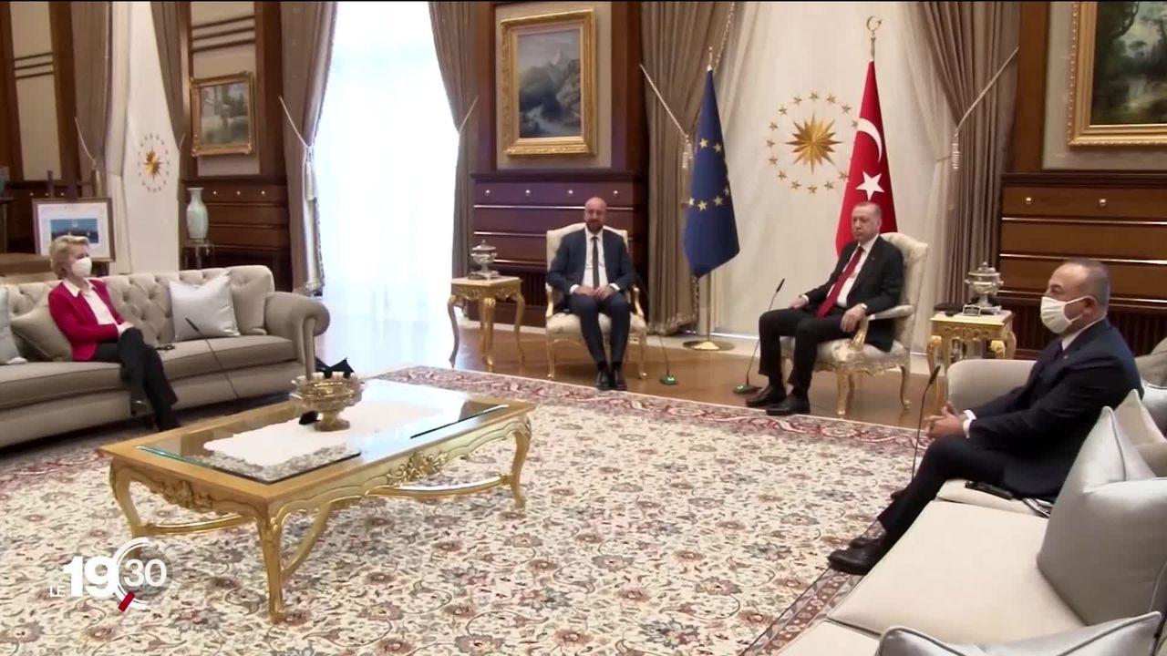 """Rencontre UE-Turquie: le """"Sofagate"""" [RTS]"""