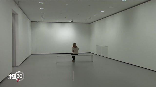 L'exposition « Le temps des artistes » explore les angoisses du monde culturel. [RTS]