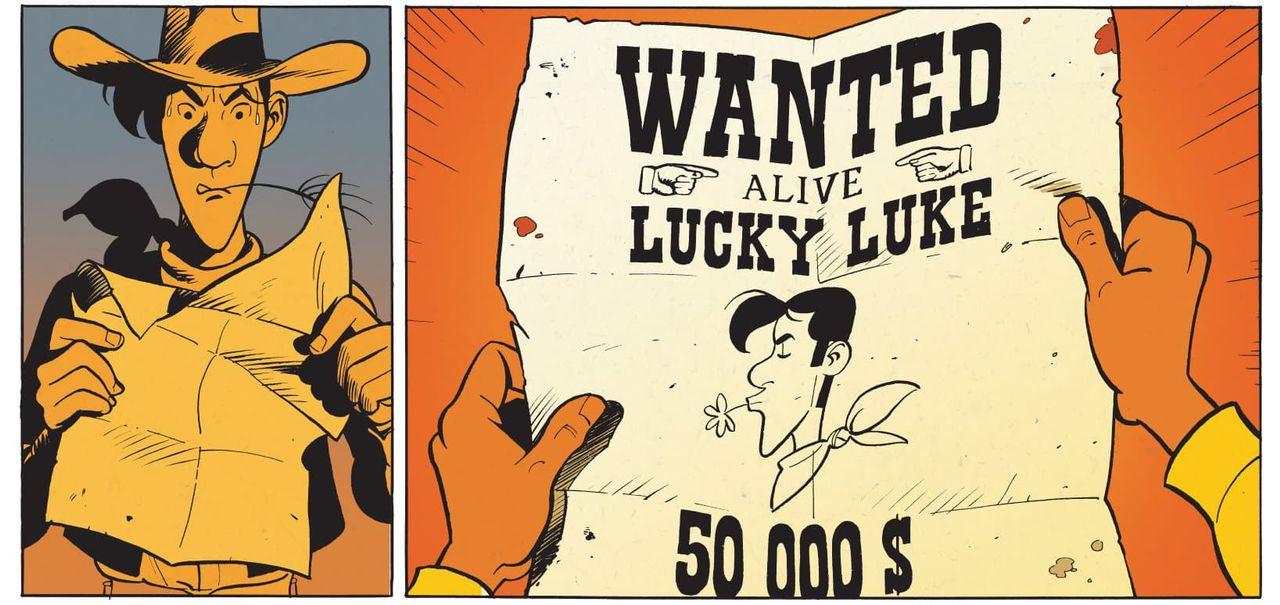 Un extrait de Wanted Lucky Luke de Mathieu Bonhomme. [Editions Dargaud - DR]