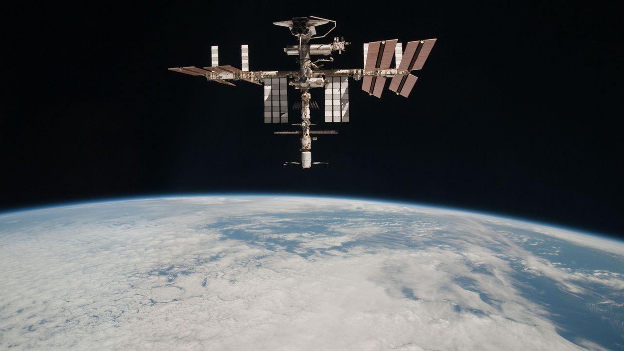 La Station Spatiale Internationale (ISS) prise en photo le 23 mai 2011. [Paolo Nespoli / NASA - KEYSTONE]