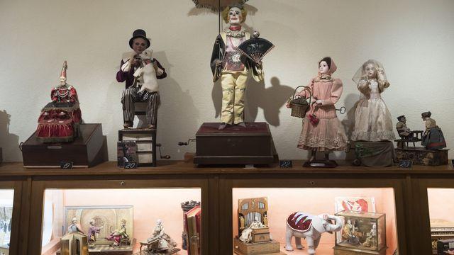 Pièces du Musée Baud à L'Auberson, près de Saint-Croix (VD). [Jean-Christophe Bott - Keystone]