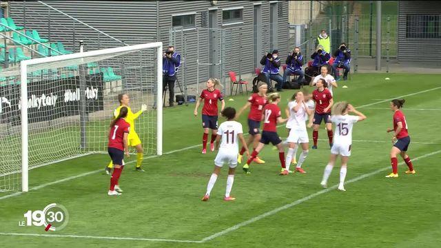 L'équipe de foot suisse féminine a décroché un match nul important en vue de l'Euro 2022 [RTS]