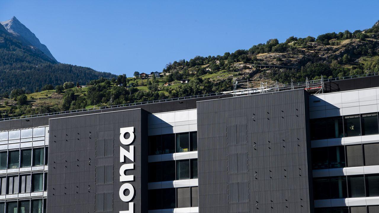 Lonza va créer 1200 emplois à Viège (VS). [Jean-Christophe Bott - Keystone]