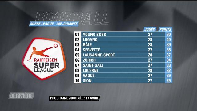 Super League, 28e journée: résultats et classement [RTS]