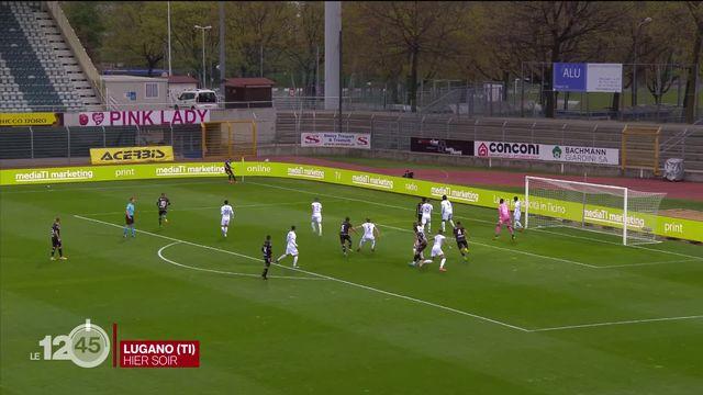 Lugano s'est imposé face au Lausanne Sport. [RTS]