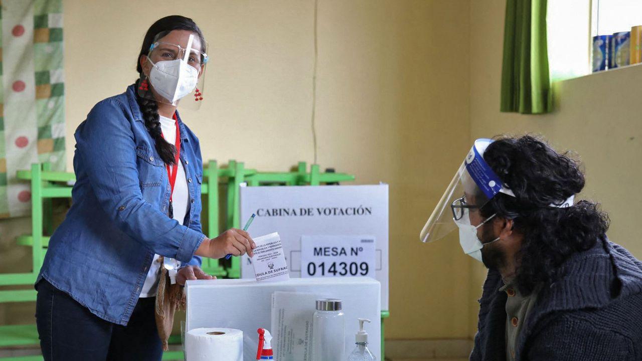 L'anthropologue Veronika Mendoza fait partie des favoris à la présidentielle péruvienne qui se tient dimanche. [Andina News Agency - AFP]