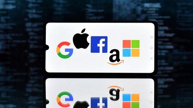"Le monopole des ""GAFAM"" (Google, Amazon, Facebook, Apple, Microsoft). [Justin Tallis - AFP]"