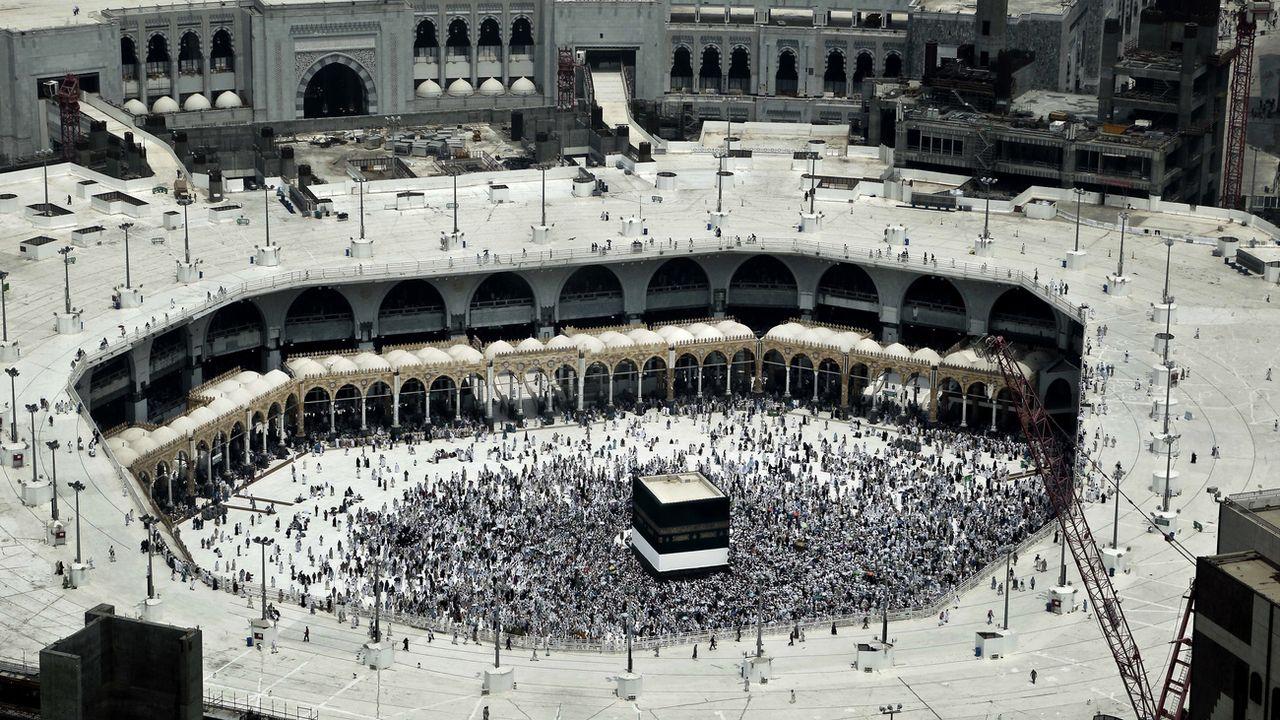 Le pèlerinage à La Mecque est réservé cette année aux personnes vaccinées. [Nariman El-Mofty - AP]