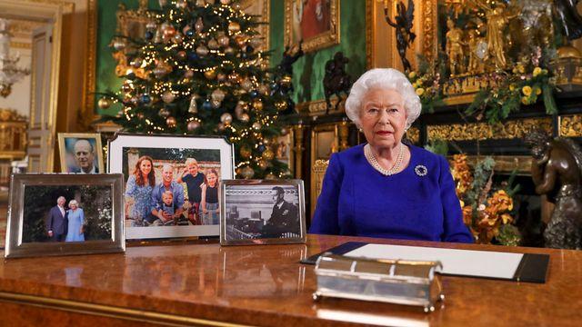 La reine Elizabeth II lors de l'enregistrement de son allocution de Noël, 24.12.2019. [Steve Parsons - Pool/AFP]