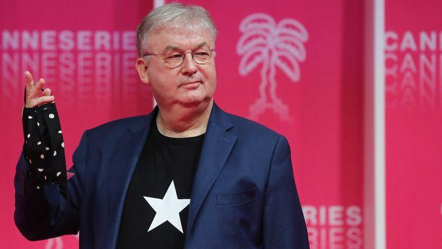 Le producteur Dominique Besnehard le 13 octobre 2020 au Festival International des Séries de Cannes. [Valery HACHE - AFP]