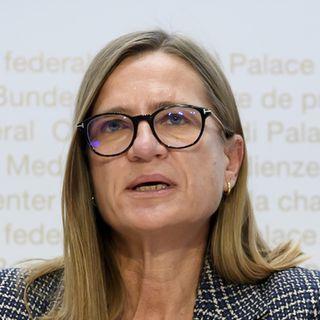 Le premier vaccin devrait être homologué en Suisse d'ici janvier, a indiqué Virginie Masserey. [Anthony Anex - Keystone]