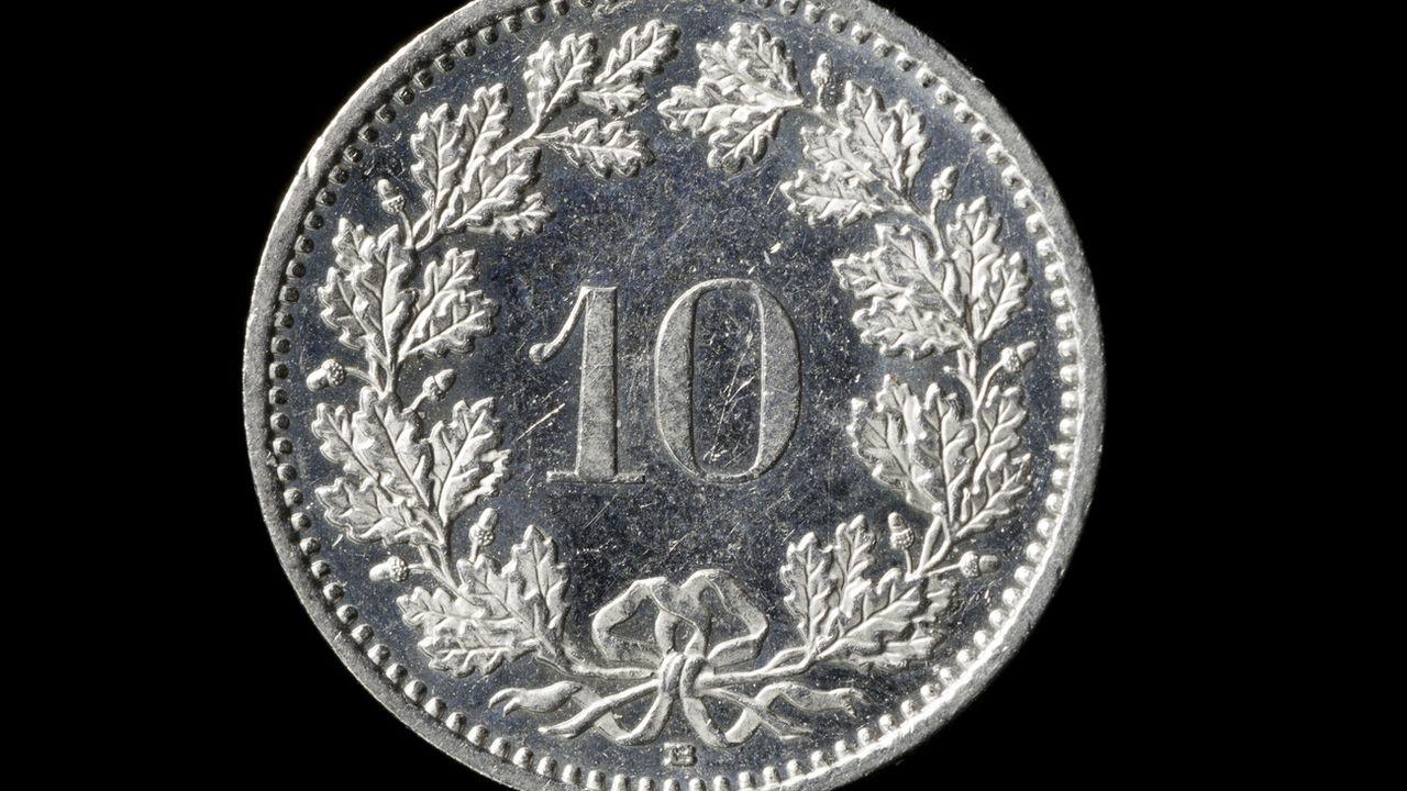 La pièce actuelle de 10 centimes suisses remonte à 1879. [Gaetan Bally - Keystone]