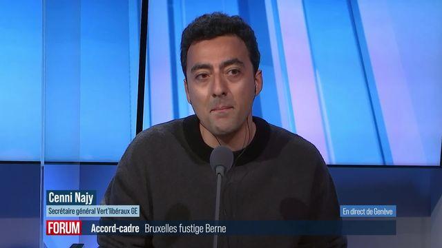 La Cour européenne fustige Berne au sujet de l'accord-cadre: interview de Cenni Najy [RTS]