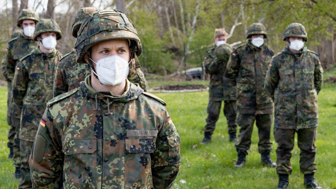 Des soldats allemands à Hanovre, en Allemagne, le 15 avril 2021. [Axel Heimken - AFP]