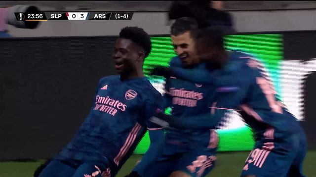 1-4 retour, Slavia Prague – Arsenal (0-4): les Canonniers d'Arsenal atomisent le Slavia [RTS]