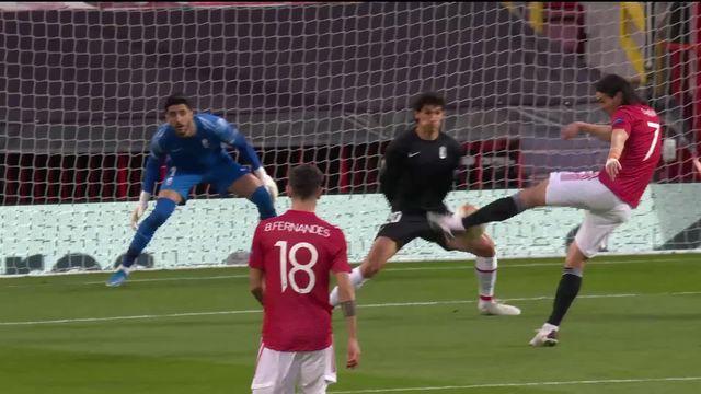 1-4 retour, Manchester United – Grenade (2-0): Les Red Devils se qualifient pour les demies grâce notamment à une réussite de Cavani [RTS]