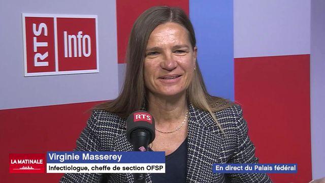 """L'invitée de La Matinale (vidéo) – Virginie Masserey, cheffe du """"Contrôle de l'infection et programme de vaccination"""" à l'OFSP [RTS]"""