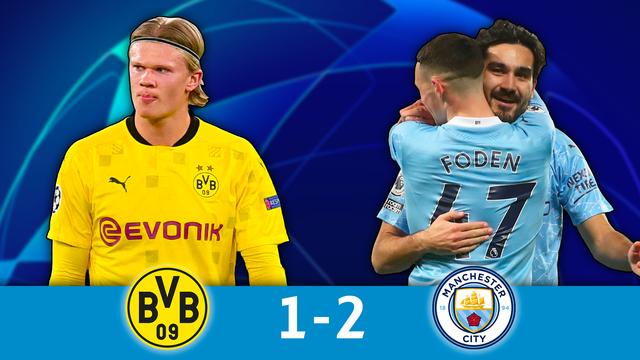 1-4 retour, B.Dortmund - Man.City (1-2): des Anglais supérieurs rejoignent le PSG en demies