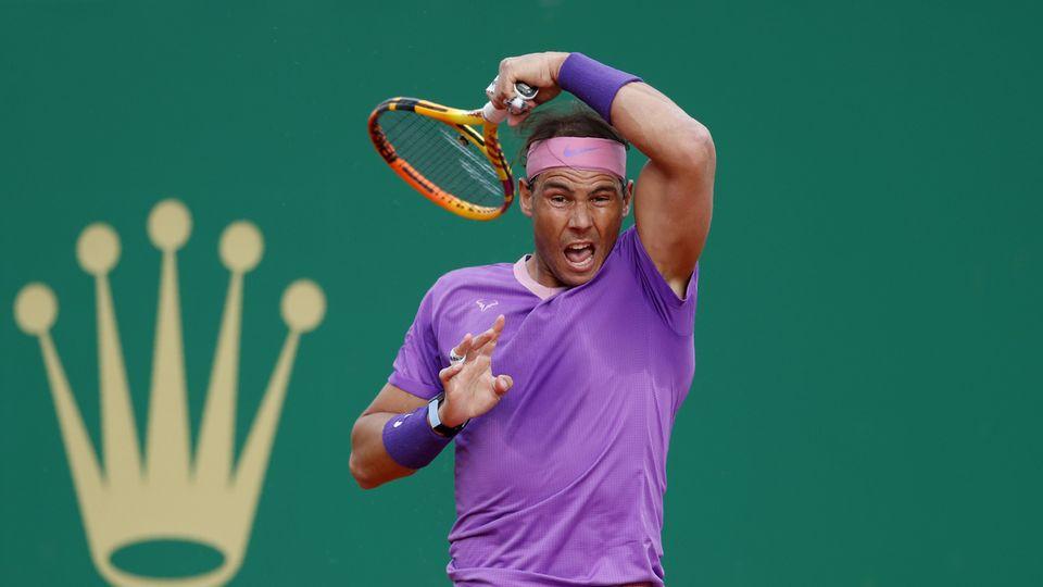 Rafael Nadal a souffert face aux frappes d'Andrey Rublev. [Jean-Francois Badias - AP]