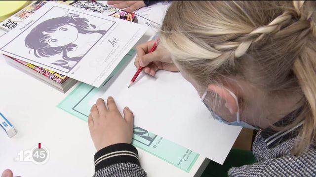Pour les passionnés de manga, une école vient d'ouvrir à Genève. Elle s'adresse à ceux qui veulent se mettre au dessin japonais [RTS]