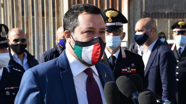 L'ex-ministre de l'Intérieur italien Matteo Salvini sera jugé pour avoir bloqué des migrants en mer. [EPA/Orietta Scardino - Keystone]
